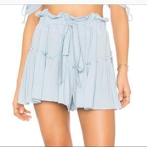 Planet blue floral Cherie shorts